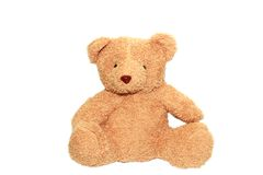 Isolated teddy bear Royalty Free Stock Photography