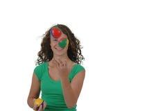 Isolated Teenage Girl Juggling Stock Photos