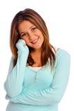 Isolated teenager Stock Image