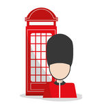 Isolated Telephone and soldat design Stock Photos