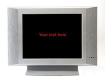Isolated television screen frame. Isolated television screen making a blank frame Stock Photo