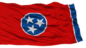 Isolated Tennessee Flag, USA state. Waving on White Background, High Resolution Stock Photo