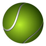 Isolated tennis ball Royalty Free Stock Images