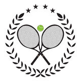 Isolated tennis emblem Royalty Free Stock Photography