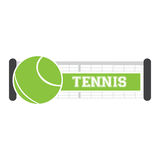 Isolated tennis net Stock Photography