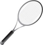 Isolated tennis racket. Isolated picture of a tennis racket Royalty Free Stock Images