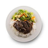 Isolated teriyaki beef Stock Photography