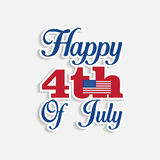 Isolated 4th of july lettering. American Independence Day background Royalty Free Stock Photography