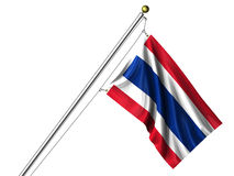 Isolated Thai Flag Royalty Free Stock Image