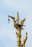 Isolated thai style lantern pillar. Isolated bird - like thai style lantern pillar Stock Photography