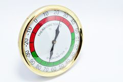 Isolated thermometer hygrometer Stock Photography