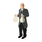 Isolated thief cartoon with money bag design Royalty Free Stock Photo
