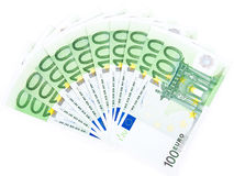 Isolated thousand euros Stock Image