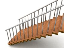 Isolated three dimensional stairs vector illustration