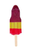 Isolated three flavoured popsicle Stock Photography