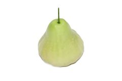 Three green rose apples in white background Royalty Free Stock Images