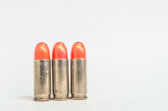 Isolated three lipstick bullet on white Stock Images