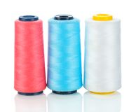 Isolated three spool of thread Royalty Free Stock Image
