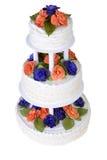 Isolated Three Tier Ruffled Cake Royalty Free Stock Image