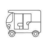 Isolated three wheeler vehicle design royalty free illustration