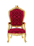 Isolated throne. A throne in gold and red velvet isolated on white background vector illustration