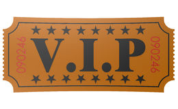 Isolated ticket with VIP word Stock Images