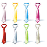 Isolated tie set. Fully editable vector illustration of isolated tie set Royalty Free Stock Photos