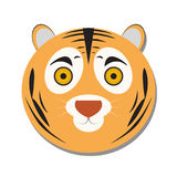 Isolated tiger face Stock Photos
