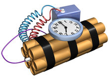 Isolated time bomb Stock Photography