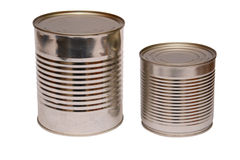 Isolated tin can Royalty Free Stock Images