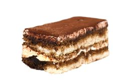 Isolated tiramisu closeup Royalty Free Stock Photos