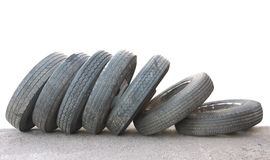 Isolated tires Stock Photography