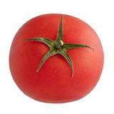 Isolated Tomato. Round red star tomato, isolated on white background Royalty Free Stock Images