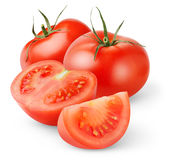 Isolated Tomatoes Royalty Free Stock Photos