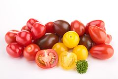 Isolated tomatoes Royalty Free Stock Image