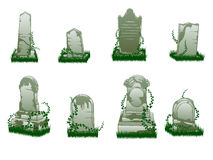 Isolated tombstones Royalty Free Stock Photos