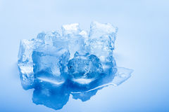 Isolated toned ice cubes Stock Photo