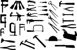 Isolated tools. Isolated tool collection available in vector too Stock Images