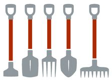 Isolated tools for gardening work Stock Image