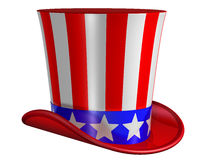 Isolated Top Hat for Uncle Sam Stock Images
