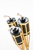 Isolated. torches lamp made of cans for fuel. Stock Photos