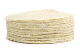 Isolated Tortillas royalty free stock photo