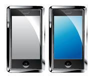 Isolated Touch Screen Smartphones Stock Image