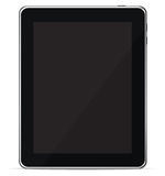 Isolated Touch Screen Tablet PC eReader (Vector). This rendering of a black glossy smart tablet PC is great for anyone advertising apps, web browsing, or ebooks Royalty Free Stock Image