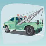 Isolated tow truck with crane Stock Photography