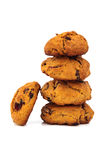 Isolated tower of homemade cookies Royalty Free Stock Photo