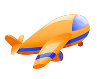 Isolated toy airplane. Takeoff. Eps10 Royalty Free Stock Photo
