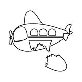 Isolated toy airplane damaged design. Toy airplane damaged icon. Childhood play fun cartoon and game theme. Isolated design. Vector illustration Royalty Free Stock Photos
