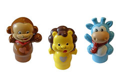 Isolated toy animals. Isolated three toy animals background Stock Photo