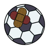 Isolated toy ball damaged design. Toy soccer ball damaged icon. Childhood play fun cartoon and game theme. Isolated design. Vector illustration Royalty Free Stock Photography